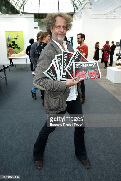 Editor of 'Technikart' Fabrice de RohanChabot attends the FIAC 2017 International Contemporary Art Fair Press Preview at Le Grand Palais on October...