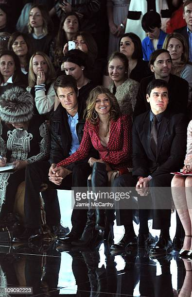 Editor of the Daily Telegraph Hilary Alexander, actor Josh Duhamel and singer Fergie attend the Marc Jacobs Fall 2011 Collection at N.Y. State Armory...