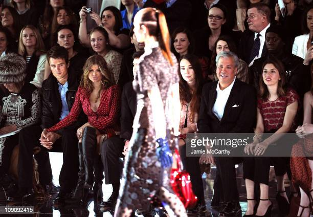 Editor of the Daily Telegraph Hilary Alexander, actor Josh Duhamel, singer Fergie, Robert Duffy and actress Sofia Coppola attend the Marc Jacobs Fall...