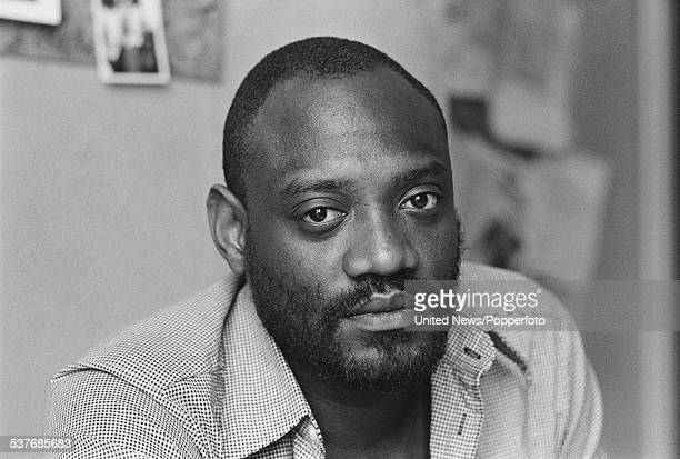 Editor of the magazine Race Today Darcus Howe pictured in his office in London on 11th August 1976