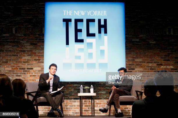 Editor of The New Yorker David Remnick and Oncologist and assistant professor of medicine at Columbia University Siddhartha Mukherjee speaks onstage...
