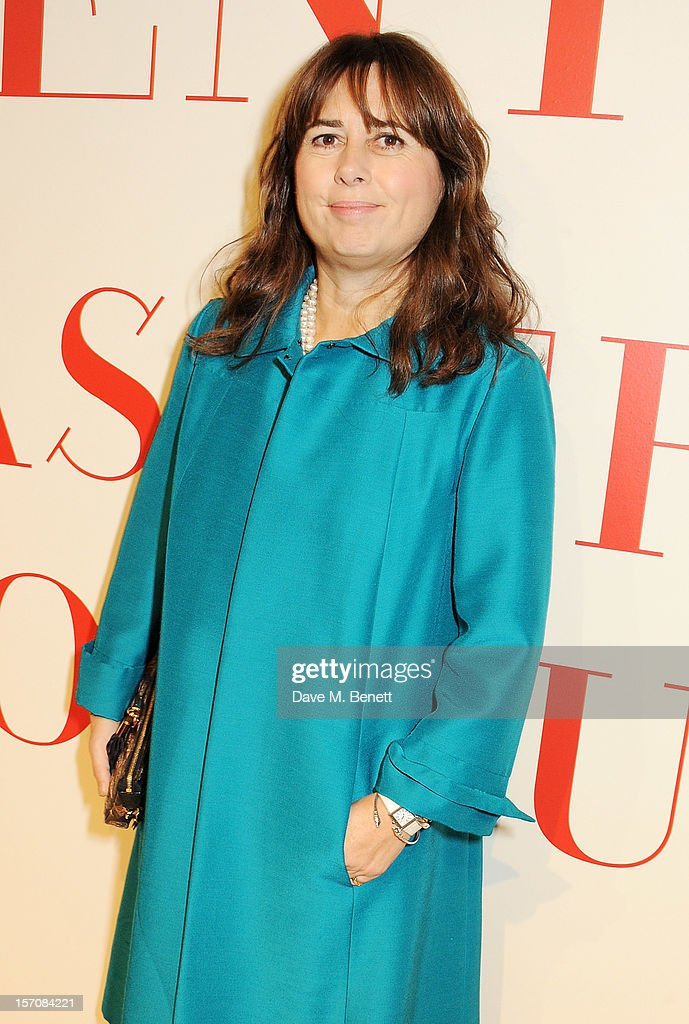 Editor of UK Vogue Alexandra Shulman attends a private view of 'Valentino: Master Of Couture', exhibiting from November 29th, 2012 - March 3, 2012, at Somerset House on November 28, 2012 in London, England.