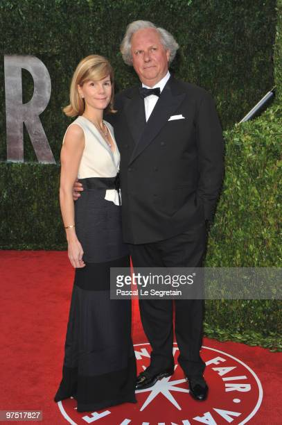 Editor of Vanity Fair Graydon Carter and Anna Carter arrive at the 2010 Vanity Fair Oscar Party hosted by Graydon Carter held at Sunset Tower on...