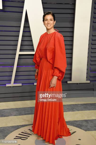 Editor of Vanity Fair Radhika Jones attend the 2019 Vanity Fair Oscar Party hosted by Radhika Jones at Wallis Annenberg Center for the Performing...
