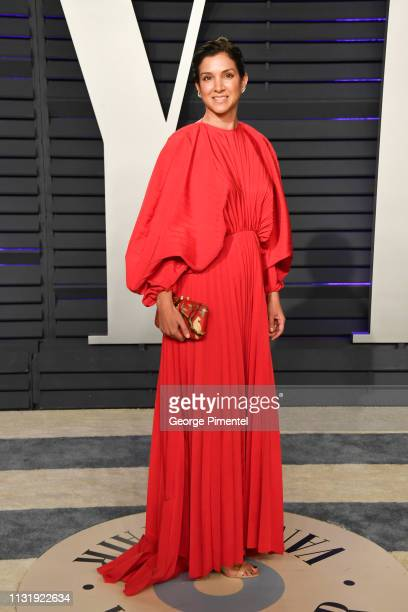 Editor of Vanity Fair Radhika Jones attends the 2019 Vanity Fair Oscar Party hosted by Radhika Jones at Wallis Annenberg Center for the Performing...