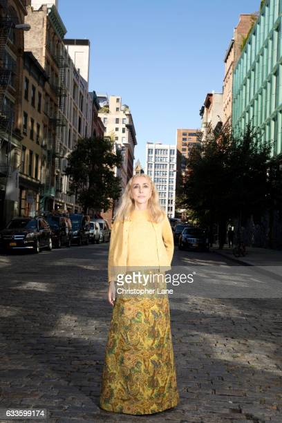 Editor of Vogue Italia Franca Sozzani is photographed for The Guardian Magazine on October 14, 2016 in New York City.