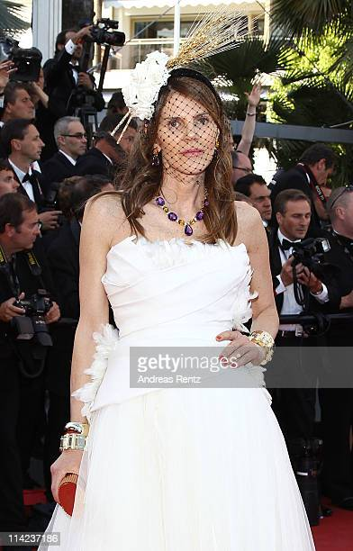 Editor of Vogue Japan Anna Dello Russo attends 'The Tree Of Life' premiere during the 64th Annual Cannes Film Festival at Palais des Festivals on May...