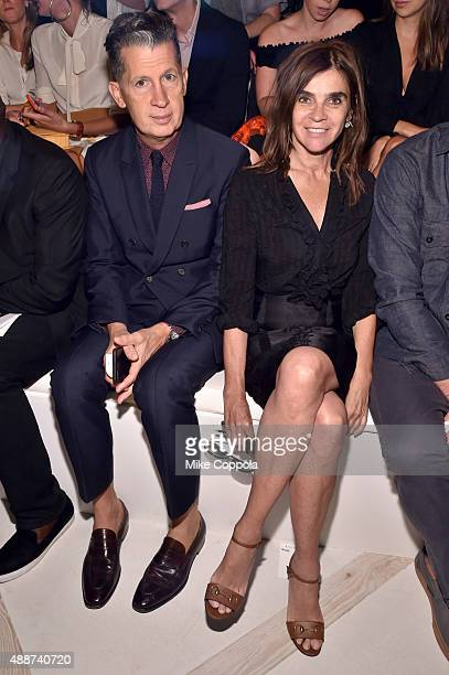Editor of W Magazine Stefano Tonchi and Founder and editorinchief Carine Roitfeld attend Ralph Lauren Spring 2016 during New York Fashion Week The...