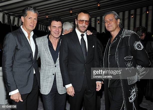 Editor of W Magazine Stefano Tonchi Chateau Marmont Manager Andre Balazs director/fashion designer Tom Ford and Valentino brand ambassador Carlos...