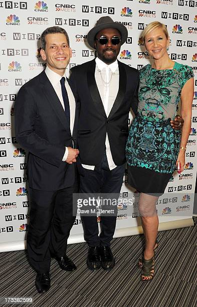 Editor of WIRED David Rowan, will.i.am and Tania Bryer attend a party hosted by will.i.am and David Rowan to celebrate their co-curation of the...