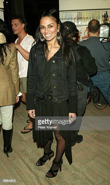 Editor Rena Sindi attends the Launch Party for Adam and Eve underwear and sportswear February 18 2004 in New York City