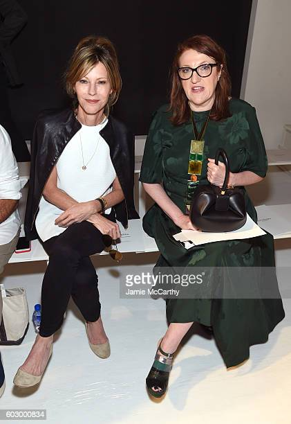 Editor Robbie Myers and editor Glenda Bailey attends the Altuzarra fashion show during New York Fashion Week September 2016 at Spring Studios on...