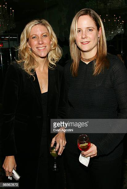 Editor Sabine Krayenbhl and writer Amy Sewell attend the 2005 National Board of Review of Motion Pictures Awards reception at Tavern on the Green...
