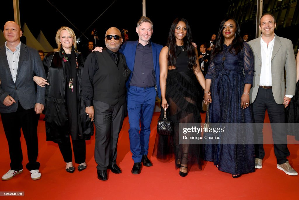 Editor Sam Rice Edwards, producer Lisa Erspamer, Ulysses Carter, director Kevin Macdonald, Rayah Houston, producer Pat Houston and producer Jonathan Chinn attend the screening of 'Whitney' during the 71st annual Cannes Film Festival at Palais des Festivals on May 16, 2018 in Cannes, France.