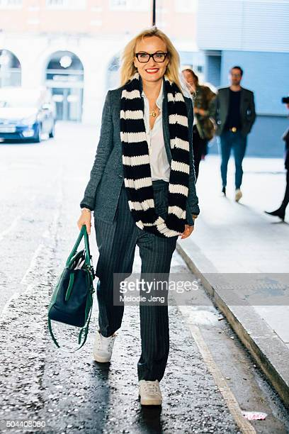 Editor Sarah Ann Murray during The London Collections Men AW16 at the Belstaff presentation on January 11 2016 in London England