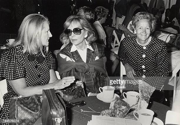 Editor Shirley Lord journalist Barbara Walters and publisher Katharine Graham attend 70th Birthday Party for Malcolm Forbes on August 18 1989 in...