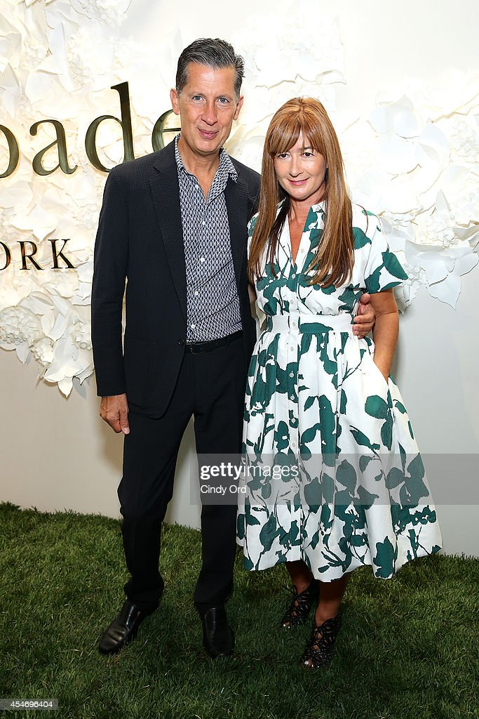 Editor Stefano Tonchi and Kate Spade Chief Creative Officer Deborah Lloyd at the Kate Spade New York Presentation during Mercedes-Benz Fashion Week Spring 2015 at Center 548 on September 5, 2014 in New York City.