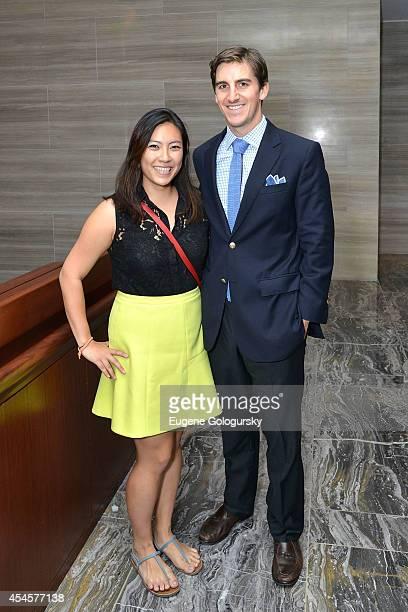 Editor Stephanie Woo and editor Sam Dagramond at the Premiere of Park Hyatt New York on September 3 2014 in New York City