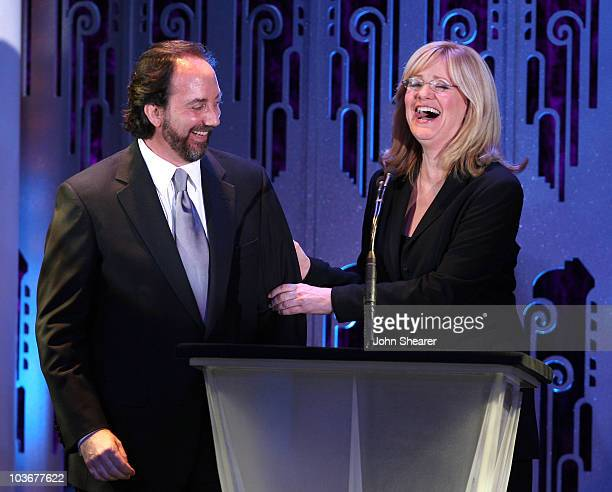 Editor Stephen Rivkin and actress Bonnie Hunt at the 58th Annual ACE Eddie Awards at the Beverly Hilton Hotel on February 17 2008 in Beverly Hills...