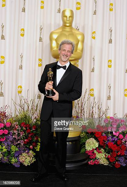 Editor William Goldenberg poses in the press room during the Oscars at the Loews Hollywood Hotel on February 24, 2013 in Hollywood, California.