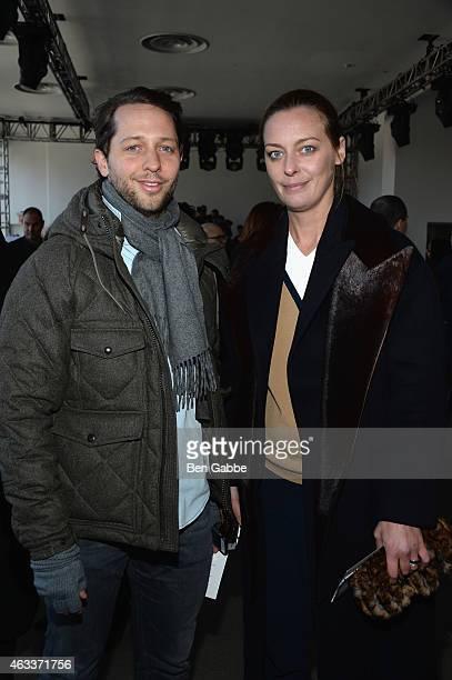 EditoratLarge at Harpers Bazaar Derek Blasberg and Vanity Fair Fashion Style Director Jessica Diehl attend the Jason Wu fashion show during...