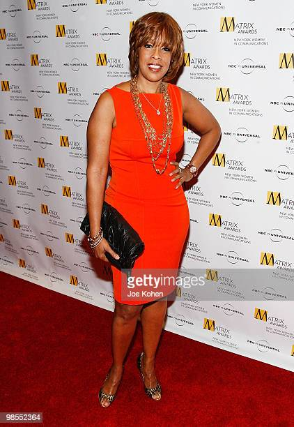 Editoratlarge for O The Oprah Magazine Gayle King attends the 2010 Matrix Awards presented by New York Women in Communications at The Waldorf=Astoria...
