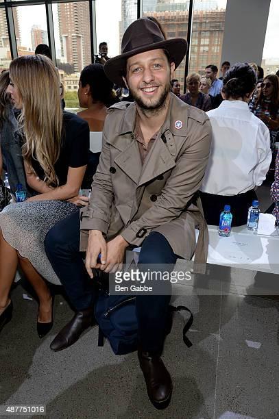 EditoratLarge of Harper's Bazaar Derek Blasberg attends the Jason Wu fashion show during Spring 2016 New York Fashion Week at Spring Studios on...