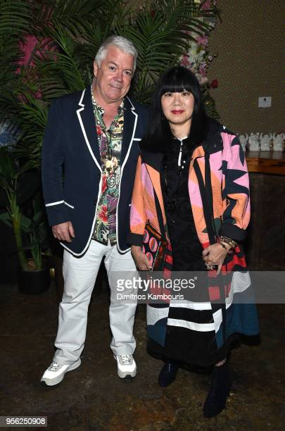EditoratLarge The Business of Fashion Tim Blanks and Designer Anna Sui attends an intimate dinner hosted by The Business of Fashion to celebrate its...