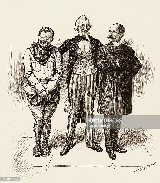 Editorial cartoon , originally captioned 'Either Is Good Enough for Me,' depicts Uncle Sam as he presents the candidates from the two major political...