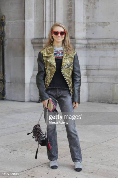 Editorial Director at Kirna Zabete Jessica Minkoff seen during Paris Fashion Week Womenswear Fall/Winter 2018/2019 on March 5 2018 in Paris France