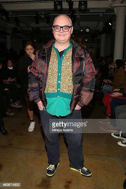 Editorial director at Paper magazine Mickey Boardman attends Baja East runway show during MADE Fashion Week Fall 2015 at Milk Studios on February 17...