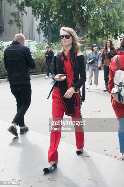 Editorial Director for Kirna Zabete Jessica Minkoff for wears Ray Ban sunglasses Faith Connexion trousers Chanel shoes Givenchy scarf and a Rebecca...