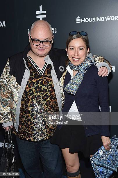Editorial director for PAPER magazine, Mickey Boardman and designer Marisol Deluna attend the Housing Works' Fashion for Action 2015 at the Rubin...