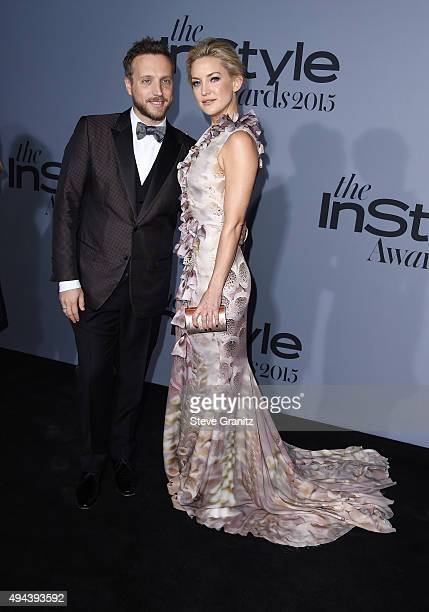 Editorial Director InStyle and People Stylewatch Ariel Foxman and actress Kate Hudson attend the InStyle Awards at Getty Center on October 26 2015 in...