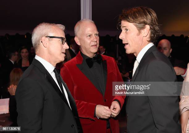 EW Editorial Director Jess Cagle producer Ryan Murphy and cinematographer Danny Moder attend the amfAR Gala Los Angeles 2017 at Ron Burkle's Green...