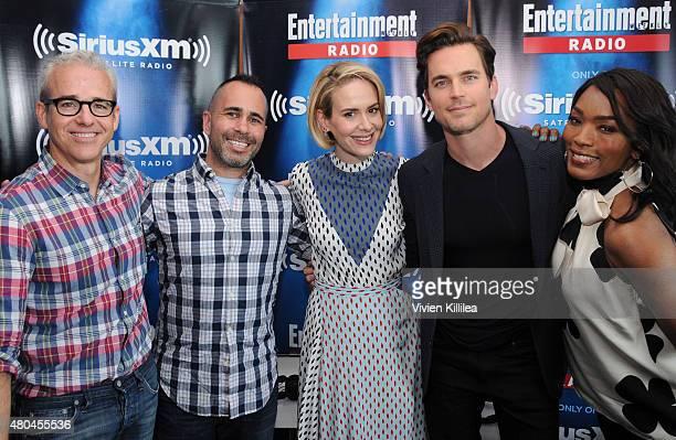 Editorial director of EW Jess Cagle editor of EW Henry Goldblatt actors Sarah Paulson Matt Bomer and Angela Bassett attend SiriusXM's Entertainment...