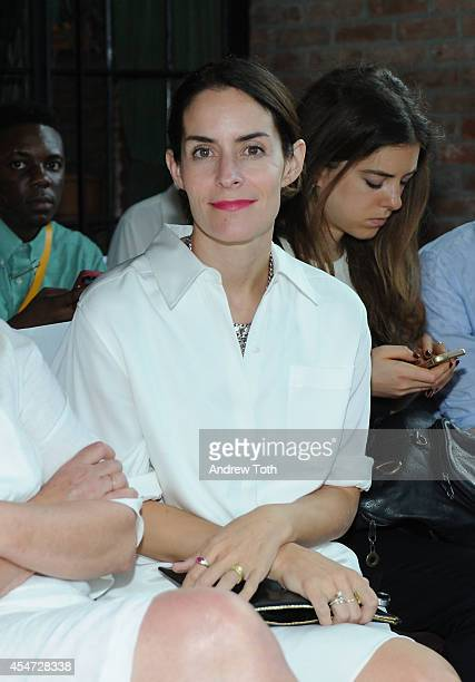 Editorial Director of The Cut Stella Bugbee attends the Rodebjer fashion show during MercedesBenz Fashion Week Spring 2015 at The Bowery Hotel on...