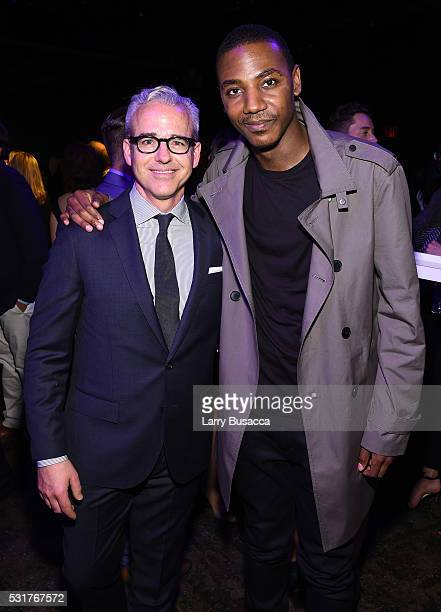 Editorial Director PEOPLE and EW Jess Cagle and actor Jerrod Carmichael attend the Entertainment Weekly People Upfronts party 2016 at Cedar Lake on...