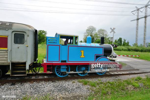 editorial only - thomas the tank engine, cuyahoga valley national park, boston township, ohio, usa - pop up book stock pictures, royalty-free photos & images