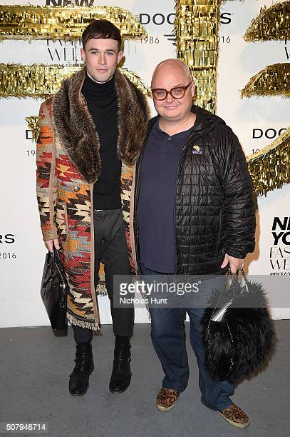 Editorial producer at PAPER Magazine, Kevin Breen and editorial director at PAPER Magazine, Mickey Boardman attend the Dockers x CFDA NYFWM Opening...