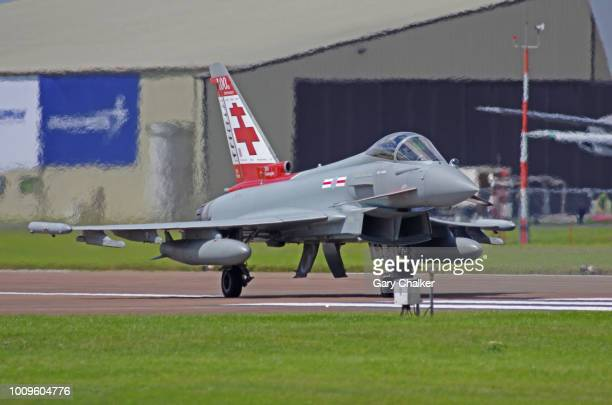 editorial use – eurofighter typhoon fgr-4 - taxiing stock pictures, royalty-free photos & images