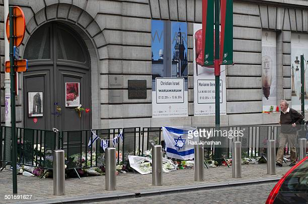 """Editorial use only"""" BRUSSELS, BELGIUM: May 27 2014. Saturday 24 May three people were killed, two Israeli tourists and woman working in the museum,..."""