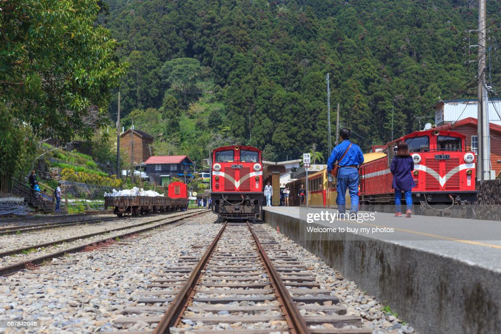 Editorial Use Only Fenqihu Railway Station Of Alishan National Park