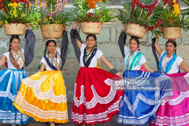 editorial use only - wedding dancers, oaxaca - free up skirt pics stock photos and pictures