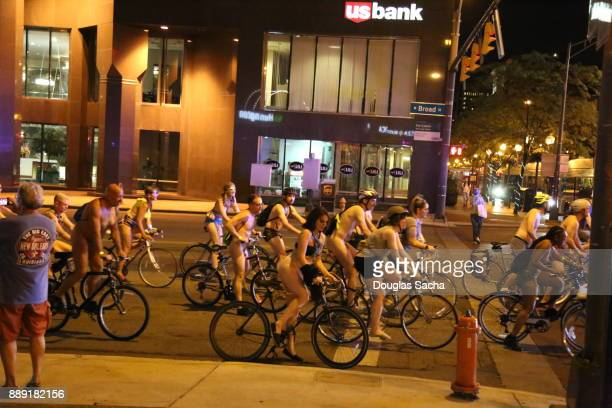 Editorial - World Naked Bike Ride, Columbus, Ohio, USA
