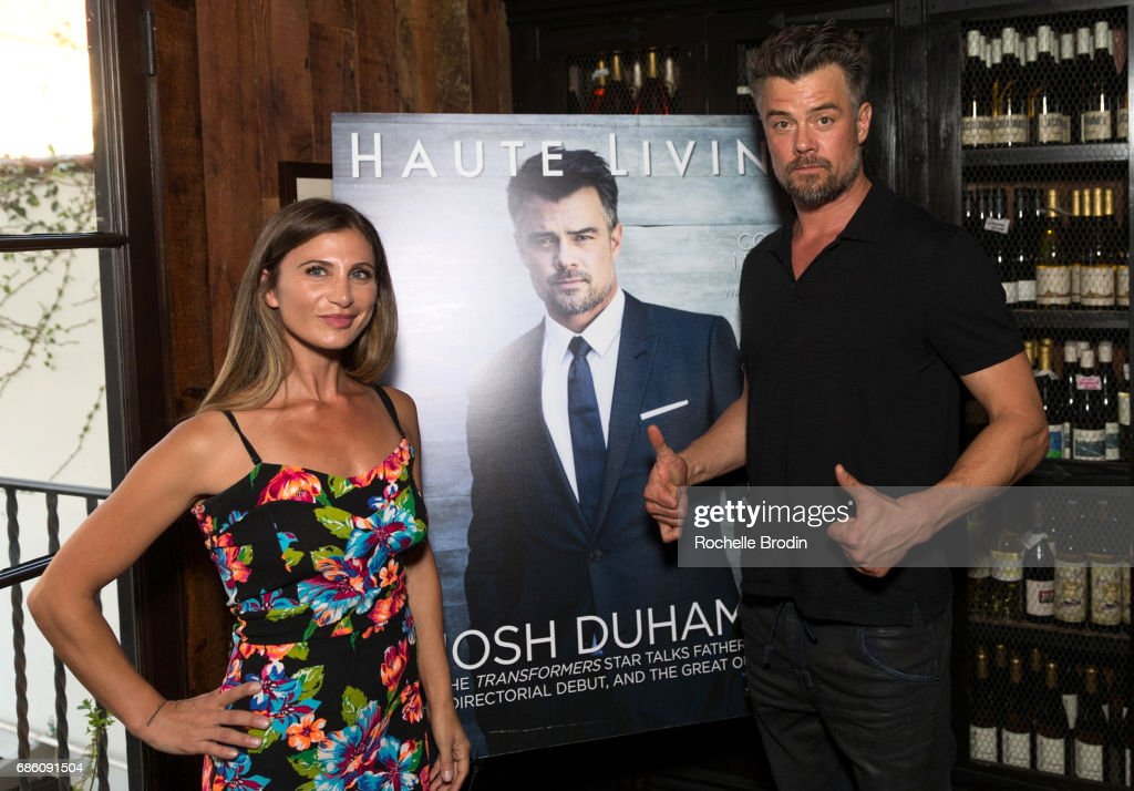 Editor-in-Cheif Laura Schreffler and actor/director Josh Duhamel attend Haute Living Celebrates Josh Duhamel Presented By Westime at A.O.C. on May 19, 2017 in Los Angeles, California.