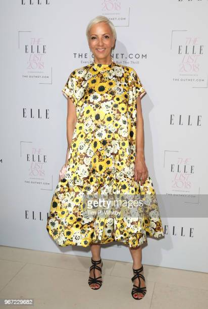 EditorinCheif of Elle AnneMarie Curtis attends The ELLE List 2018 at Somerset House on June 4 2018 in London England