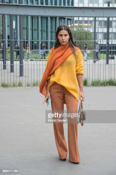 EditorinChief at l'u2019Officiel Ukraine Ulyana Boyko wears an And Other Stories sweater Diane von Furstenberg trousers Chloe bag and Prada shoes day...