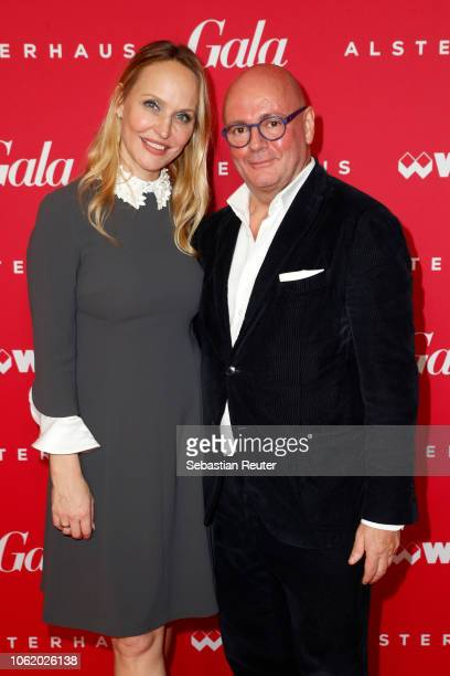 Editorinchief Gala Anne MeyerMinnemann and Chief executive officer KaDeWe Group Andre Maeder attend the GALA Christmas Shopping Night at Alsterhaus...