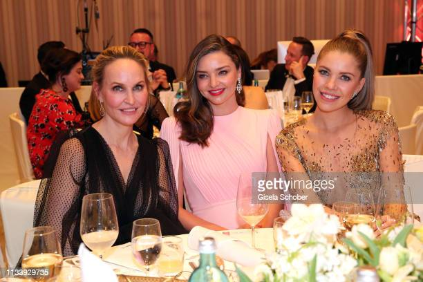 Editor-in-chief Gala Anne Meyer-Minnemann. Miranda Kerr, Victoria Swarovski during the Gruner+Jahr Spa Awards at Brenners Park-Hotel & Spa on March...